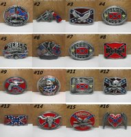 Wholesale Confederate Southern South Rebel Dixie Flag CSA Army Big Belt Buckle Buckles High Quality