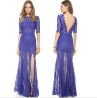 Wholesale new lace dresses for women Runway Dresses Sexy backless dress dress lace stitching