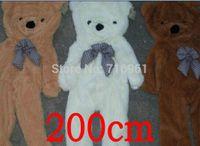 al por mayor escudo gigante oso de peluche-200cm gran abrigo enorme oso de peluche cáscara sin vida algodón tamaño gigante 68 '' regalo de cumpleaños de 3 colores 2.0m
