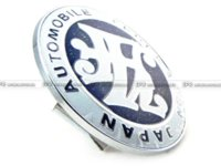 Wholesale Car Styling Universal JDM JAF Front Grill Badge MM Diameter METAL BASE PLASTIC M19332 badge holder with clip