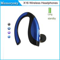 alcatel bluetooth - X16 Wireless Bluetooth Stereo Headset Earphone Headphone For Microsoft LG Alcatel Galaxy S6 HTC Huawei iPhone S Plus in stock
