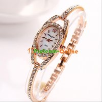 artificial quartz stone - Casual Stainless Steel Wristwatch girls or fashion Artificial stone Wrist watch