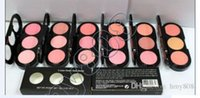 Wholesale New Makeup Face Colors Fower Gold Rouge Blush Palette g free gift