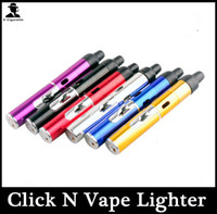 Wholesale Colorful click n vape sneak a vape herbal vaporizer smoking pipe Trouch Flame lighter With Built in Wind Proof Torch lighters Hot