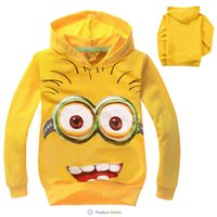 Wholesale 2015 Boy girl Despicable Me Long Sleeve Hoodie girls cotton padded clothes Girls coat Children clothes factory direct