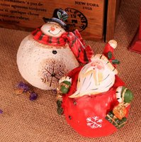 resin christmas ornaments - zakka grocery gift Christmas ornaments resin crafts based Friends of the elderly and snowman C7