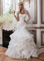 alexander springs - Justin Alexander Mermaid Ivory Satin Wedding Dresses Sweetheart Backless Sleeveless Applique Organza Bridal Gowns Chapel Train