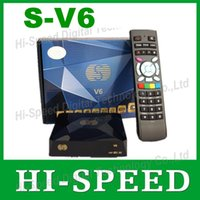 Cheap 10PCS S-V6 Mini Digital Satellite Receiver S V6 S-V6 with AV HDMI output 2xUSB WEB TV USB Wifi Biss Key Youporn CCCAMD
