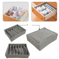 Wholesale HOT Sock Bra Underwear Closet Drawer Organizer Storage Box Bamboo Charcoal Set N76