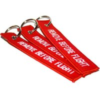 Wholesale Aviation Remove Before Flight Airbus keyring Airbus Embroidered Key Ring x cm