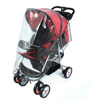 Wholesale special breathable baby stroller rain cover baby car windscreen dust cover for stroller rain cover