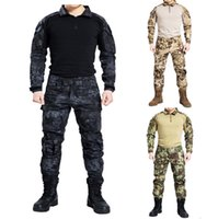 Cheap Tactical Combat camouflage Uniform shirt+pants Military Army Pants with knee pads Size S-XXL