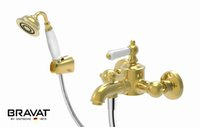 Wholesale Single Handle Wall Mounted Bath Shower Mixer Luxury Gold Color Shower Sets