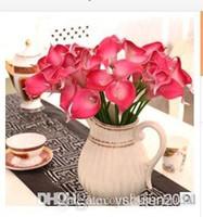 Свадебные украшения Искусственные цветы ПУ Недвижимость сенсорный Белый Мини Калла Лили для Свадебные украшения