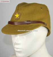 army officers hat - WWII WW2 JAPANESE ARMY IJA OFFICER FIELD WOOL CAP HAT L
