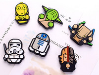 Wholesale Star Wars refrigerator Fridge Sticker Cartoon Stars Wars Solider Yoda Darth vader Fridge Magnet Funny Refrigerator Toy A