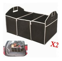 Wholesale 2x Collapsible Car Boot Organiser Trunk Organizer Space Saving container Suitable for all Auto Brand Storage Bag Box Zakka
