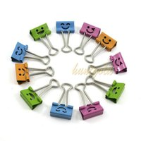 Wholesale Office Supply Random Color Mini Metal Paper Note Binder Clips