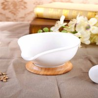 Wholesale Factory direct wooden thicker ceramic grinder creative manual medicine mortar pestle food Daosuan device