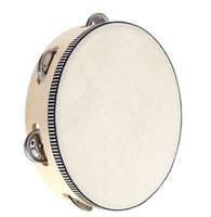 Wholesale 30pcs new arrive Toy Musical Instrument Tambourine inch Hand Held Tambourine Drum Bell Birch Metal Jingles Musical Toy for KTV Party D126