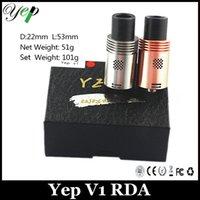 Original Yep V1 RDA atomiseur SS Red Copper E Atomiseur de cigarette Atomiseur de gouttes réutilisable VS atty 2.5 Doge RDA atomiseur