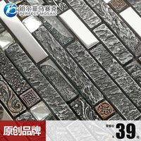 Wholesale Amalfi length platinum metal resin strip mosaics European retro living room TV backdrop of new explosion models