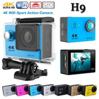 angels cams - New K Action Camera H9 Wifi Ultra HD Sport Cam Diving M Waterproof Sports Camera Wide Angel Lens inch Helmet Cameras