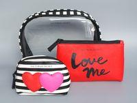 beaches set designs - New Luxury Set Cosmetic Bag design Beach Make Up Storage Bags purse Organizer limited edition love me