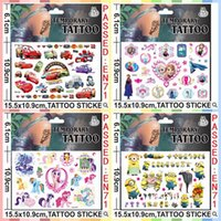 Big feet - 15 cmx10 cm Kids Body Tatoos Temporary Tattoos Big Hero6 Baymax Cartoon Minecraft Frozen Minions Temporary Tatto Stickers CCA1767