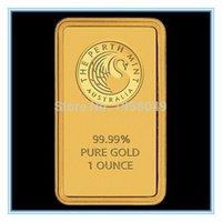 Wholesale oz Gold Bar Perth Mint gold bullion bar replica bar non magnetic