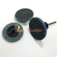 Wholesale 100 pieces quot BBL Blue Non woven Roloc Sanding Disc Metal SMC Fine Polishing Torque Abrasive Pad