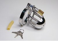 cock cage - Adult Sex Toys Quality Stainless Steel Male Chastity Device Cock Cages Men s Small Metal Virginity Lock Penis Ring Adult Sex Toys size FF9