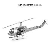 beautiful sculptures - DIY Huey Helicopter d Three dimensional nanometal miniature sculpture jigsaw puzzle ornament D Puzzle DIY Model beautiful gift