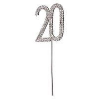 anniversary cake toppers - 16pcs Sweet Rhinestone Crystal Number th Birthday Cake Topper DIY Anniversary Banquet Decoration wa144
