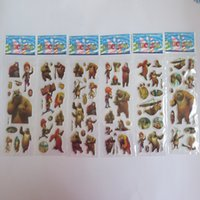 bearing dimensions - 2015 newest children boy loved cartoon bears with hunter stickers PVC Three Dimensions decorate the room fashion kids boy Gifts