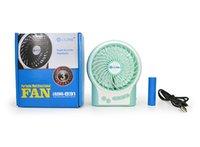 mini fan - LILENG Popular Metal USB Mini Fan With Degree Rotating PC Mini Fans Mute Cool for Office Desk