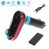 Wholesale Car FM Transmitter Kit MP3 Player A Dual USB Car Charger With Remote Controller For iPhone S C