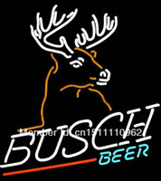 Blue beer neon light - BUSCH BEER Handcrafted Real Neon Glass Tube Beer Bar Neon Light Sign HQ