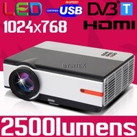 best projector brand - Best Byintek Brand Home Theater Video HDMI DVBT LCD Video fulL HD P LED D Projector Projetor Proyector for pc laptop