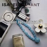 aa importing - Fine Jewelry AA Grade Pure Natural Aquamarine Phone Pendants Charms Decoration Imported Luxury Fashion Jewelry