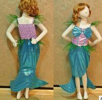ariel costume - Cute Girl Ariel Mermaid Princess dress Party Cosplay Costume Kids Fancy dress