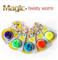 magic tricks toy - 20pcs Magic Twisty Fuzzy Worm Wiggle Moving Sea Horse Kids close up street comedy Magic Tricks Toys