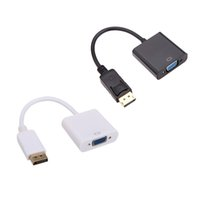 Wholesale 1080p HDMI to VGA Converter Audio Video Cables DP Display Port Male to VGA Female Converter Adapter Cable DHL V1192