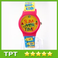 Wholesale Attractive Children Quartz Battery Wristwatches Cartoon Watches Good and Special Present for Girl Item No