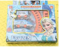 Wholesale Frozen Toy Car Model Set Children Automobiles trains Rail toy model cm toys Model For Kids plays Christmas Brithday Gift k106
