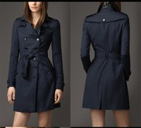 Wholesale England Style Womens Trench Coats Conventional Sleeve Standard Trench Coat for Women Red Trench Coat BC1015