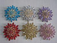 asian types - Hot Petal Type Wedding Bridal Silver Rhinestone Crystal Evening Dress Overcoat Brooches Women Brooch Bouquet Pin HD