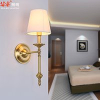 bedside wall light fixtures - Rustic Style Brass Wall Mounted Lamps Vanity Light Creative Wall Sconces Fixtures Bedside Lightings Vintage Led Wall Lights Indoor v v