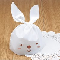 Cheap Wholesale-Lovely Rabbit Ear Lunch Bags Gift Packaging Bag Cookie Biscuits Bags Decoration Birthday Wedding Party Candy Packing Favors