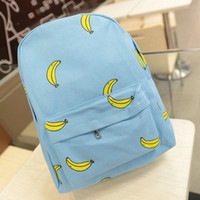 banana popsicles - Banana Popsicles hands onion pattern canvas shoulder bag student backpack schoolbags girls leisure backpack WZ70